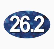 Unique 26.2 Oval Sticker - BLUE by robotface