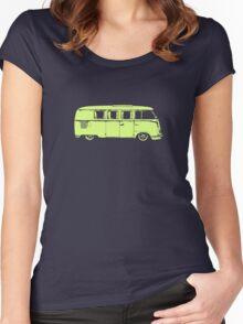 vw camper split kombi bus car t shirt Women's Fitted Scoop T-Shirt