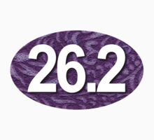 26.2 Oval Sticker - Tropical Purple by robotface