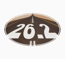 Unique 26.2 ROAD Oval Sticker by robotface