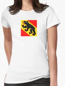 Flag of Bern Canton Womens Fitted T-Shirt