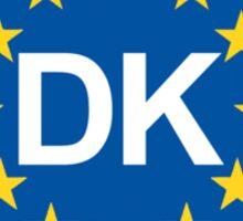 Denmark Oval EU Sticker Sticker
