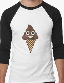 Poop Emoji Ice Cream Men's Baseball ¾ T-Shirt