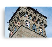 Clock tower at Cardiff Castle Canvas Print