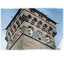 Clock tower at Cardiff Castle Poster
