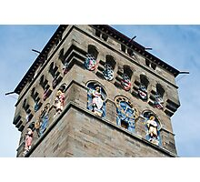 Clock tower at Cardiff Castle Photographic Print