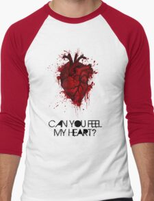Can you feel my heart? Men's Baseball ¾ T-Shirt
