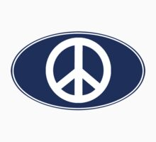 PEACE Oval Sticker by robotface