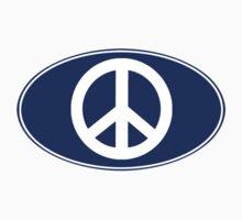 PEACE Oval Sticker by robotface