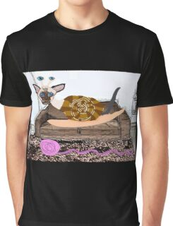 Goldenberry The Siamese Snail Cat Graphic T-Shirt
