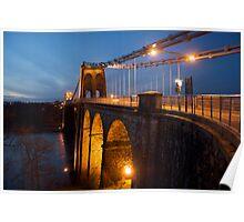 Menai Bridge Dusk Poster