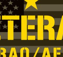 VETERAN - Iraq and Afghanistan - I Served Sticker Sticker