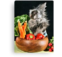 Hare in my Salad Canvas Print