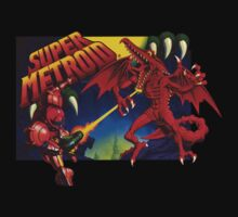 Super Metroid Box Art by lizalfos