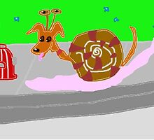 How Do I Lift My Leg- Pondered The Little Snail Dog by pinkyjainpan