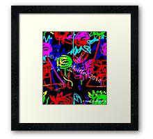 Abstract Pop Art Energy  of Love  Framed Print
