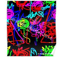 Abstract Pop Art Energy  of Love  Poster