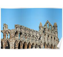 Whitby Abbey ruins detail Poster