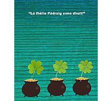 Happy St Patrick's Day Photographic Print