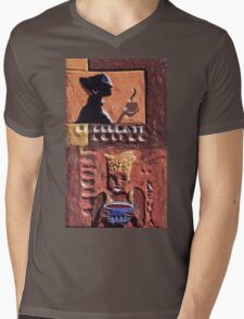 """Exclusive: """" African woman """" / My Creations Artistic Sculpture Relief fact Main 35  (c)(h) by Olao-Olavia / Okaio Créations Mens V-Neck T-Shirt"""
