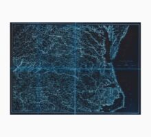 Civil War Maps 2136 Map of Virginia and North Carolina from the coast to the Blue Ridge Inverted Baby Tee