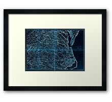 Civil War Maps 2136 Map of Virginia and North Carolina from the coast to the Blue Ridge Inverted Framed Print