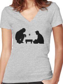 Void (Black Design) Women's Fitted V-Neck T-Shirt