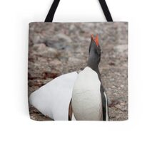 Gentoo Penguin ~ A cry for HELP ....... My world is melting Tote Bag