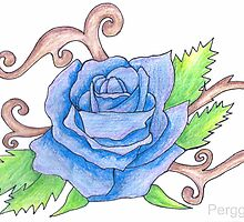 Blue rose art by Perggals© - Stacey Turner
