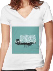 STREET VAN Women's Fitted V-Neck T-Shirt