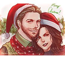 Outlaw Queen Christmas Photographic Print