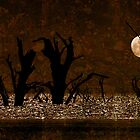 Under the Full Moon the Dead Trees Dance by Corri Gryting Gutzman