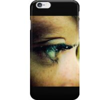 Water Droplets on Eyelashes iPhone Case/Skin