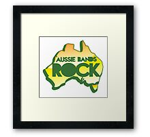 Aussie bands ROCK! with map of Australia Framed Print