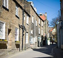 Street in Robin Hoods Bay by photoeverywhere