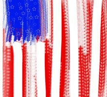 Abstract American Flag  by expressioniskey
