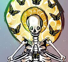 Skeleton and Butterflies by elonmiddleton