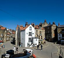 Street scene in Robin Hoods Bay by photoeverywhere
