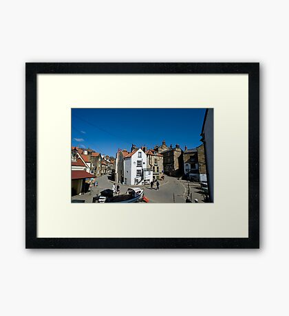 Street scene in Robin Hoods Bay Framed Print