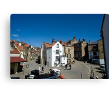 Street scene in Robin Hoods Bay Canvas Print