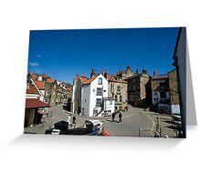 Street scene in Robin Hoods Bay Greeting Card