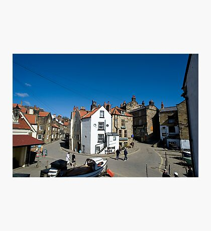 Street scene in Robin Hoods Bay Photographic Print