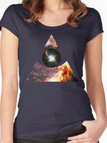 Messier 17, Eye of Centaurus A [Triangle] | Third Eye Women's Fitted Scoop T-Shirt