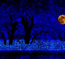 Under the Full Moon, the Dead Trees Dance (in Blue) by Corri Gryting Gutzman