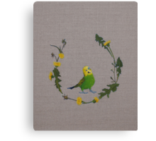 dandy bird Canvas Print