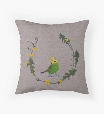 dandy bird Throw Pillow