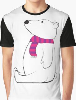 Polar Bear with Scarf Graphic T-Shirt