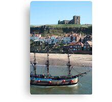 Bark Endeavour tourist cruise Canvas Print