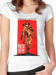 red dead redemption  Women's Fitted Scoop T-Shirt