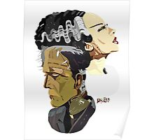 Frankenstein's Monster and his bride Poster